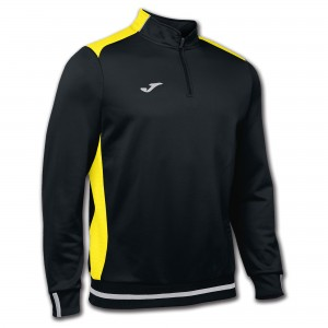 Bluza JOMA Campus II Man Sweatshirt black/yellow