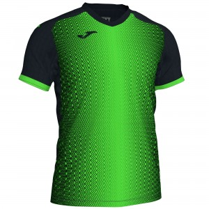 Koszulka JOMA Supernova Black-Fluor Green  JR
