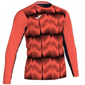 Bluza Bramkarska JOMA Derby IV Dark Orange Fluor - Black