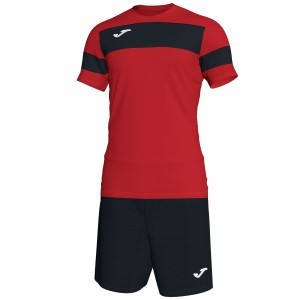 Set  Joma Academy II Red - Black