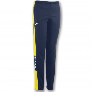 Spodnie JOMA Champion IV Woman Dark Navy - Yellow