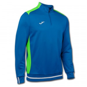 Bluza JOMA Campus II Man Sweatshirt royal/green fluor