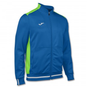 Bluza JOMA Campus II Man fleece royal/green fluor