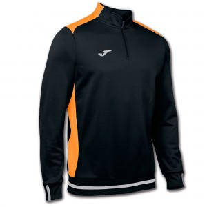 Bluza JOMA Campus II Man Sweatshirt black/orange fluor