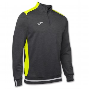 Bluza JOMA Campus II Man Sweatshirt dark melange/yellow fluor