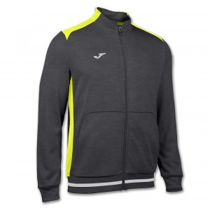 Bluza JOMA Campus II Man fleece dark melange/yellow fluor
